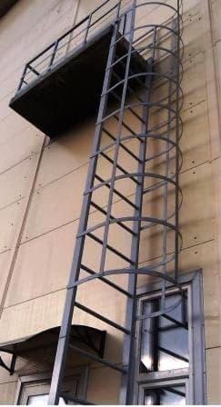 Пожарная вертикальная лестница П1-2