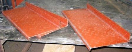 Рубка и гибка рифленого листа