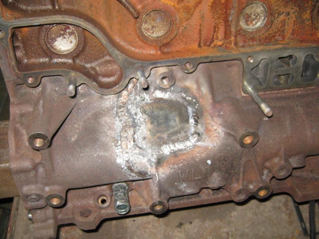 Ремонт чугунного блока двигателя