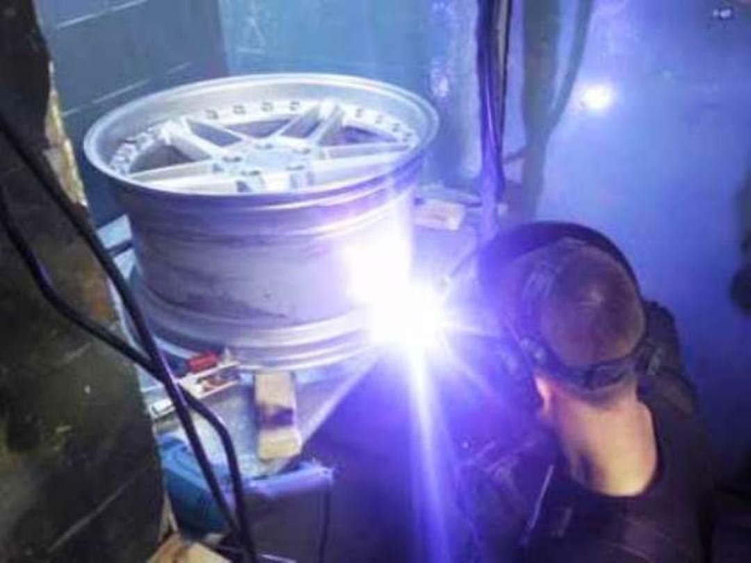 Ремонт аргоном литых дисков