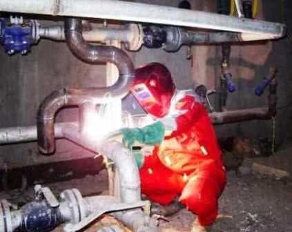 Ремонт технологического трубопровода