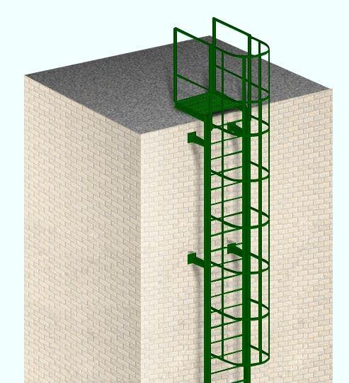 Лестница вертикальная с выходом на кровлю
