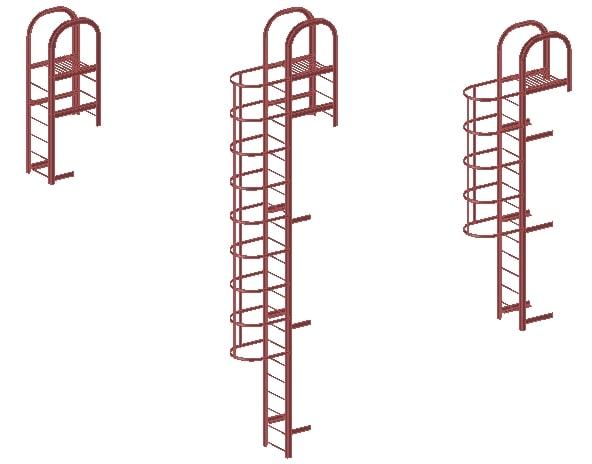 Испытание вертикальной лестницы типа П1